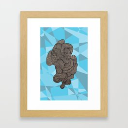 Ocean Swirls Framed Art Print