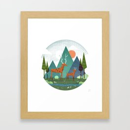 Deer and son Framed Art Print