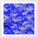 Japanese Mountains Print by hypercore
