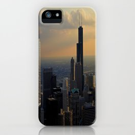 The Skyline at Dusk: From the Hancock (Chicago Architecture Collection) iPhone Case