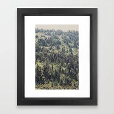 Mountain Trees Framed Art Print