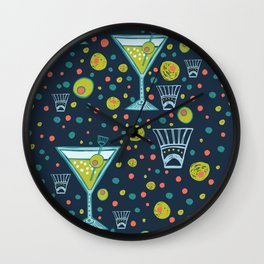 Martini Party Wall Clock