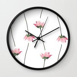 Lotos flower pattern Wall Clock