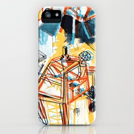 yellowredblueandblack iPhone Case