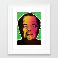 jack nicholson Framed Art Prints featuring Jack Nicholson by RDotA Grapfiks