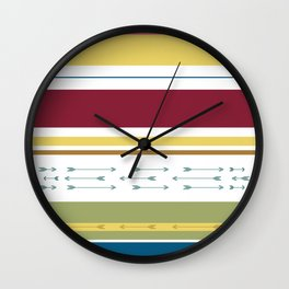 Arrows & Colours I Wall Clock