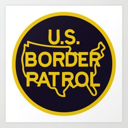 US Border Patrol Seal Art Print