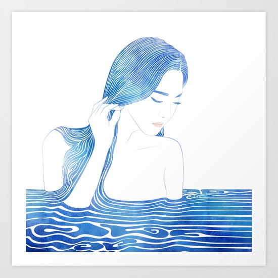 Water Nymph LXIX Art Print