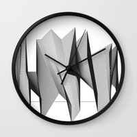 dinosaurs Wall Clocks featuring Dinosaurs by The New Minimalist