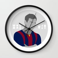 messi Wall Clocks featuring Messi by fabifa