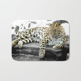 Photography Leopard Cat Bath Mat