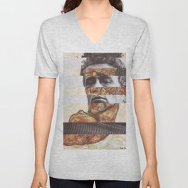Egon Schiele's Self Portrait with Bare Shoulder & James D. Unisex V-Neck