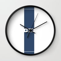solid color Wall Clocks featuring Solid by Fool design