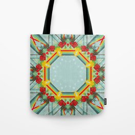 Growing Rainbow Mandala Abstract Design Tote Bag