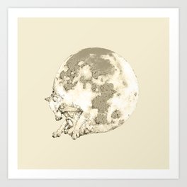 In which a wolfy moon thing happens Art Print