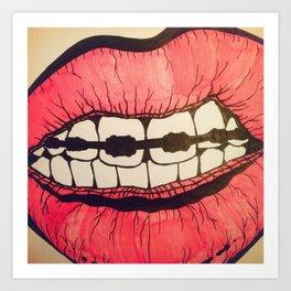 Lips Art Print