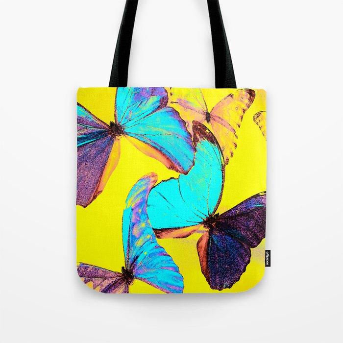 Shiny and colorful butterflies #decor #buyart #society6 Tote Bag