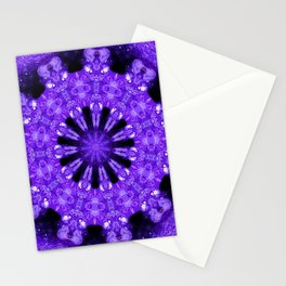 Geode Mandala in Purple Stationery Cards