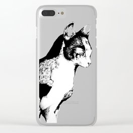 Ink Sketch - Cat Clear iPhone Case