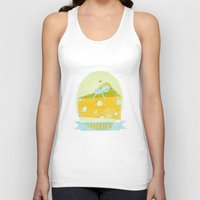 cheese Tank Tops featuring Cheese  by Hadar Geva