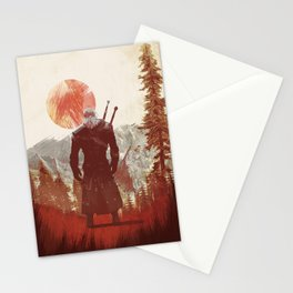 The Witcher Geralt variation print Stationery Cards