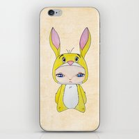 tigger iPhone & iPod Skins featuring A Boy - Rabbit (coco lapin) by Christophe Chiozzi