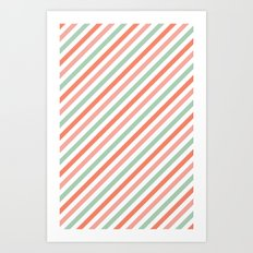 Candy stripes Art Print