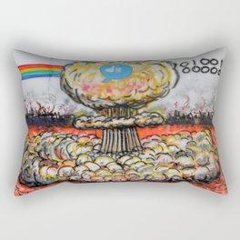 outside society mural Rectangular Pillow