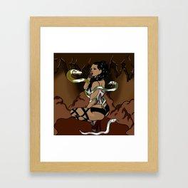Snake Siren Framed Art Print