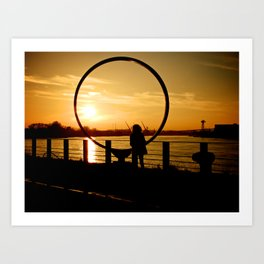 The Girl in a Ring Art Print