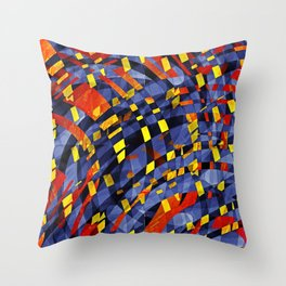 Aqua Lava Throw Pillow