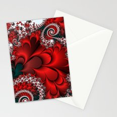 Red Sweetheart Fractal Stationery Cards