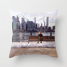 New York Mandala Throw Pillow