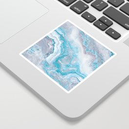 Ocean Foam Mermaid Marble Sticker
