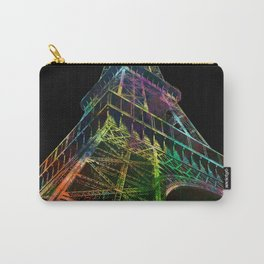 The Eiffel Tower, Paris Black Background Carry-All Pouch