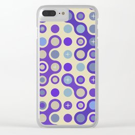 Retro pattern N2 Clear iPhone Case