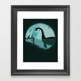 Encounter Under a Blue Moon Framed Art Print