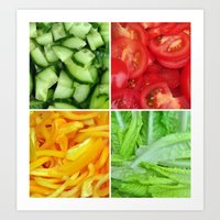 vegetable Art Prints featuring vegetable by tony tudor