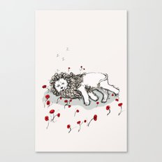 Cowardly Lion Canvas Print