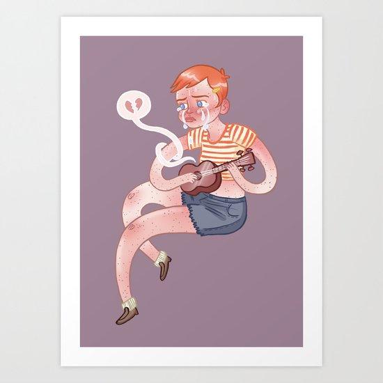 Sad Ukulele Art Print