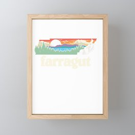 farragut tennessee outdoors retro nature graphic pullover tee Framed Mini Art Print
