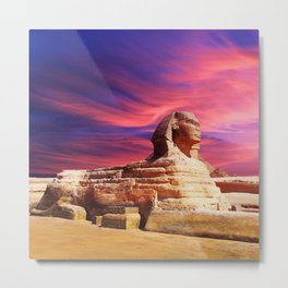 Great Sphinx of Giza, Egypt Metal Print