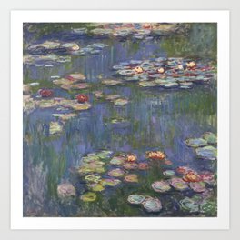 Claude Monet - Water Lilies, 1916 Art Print