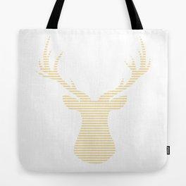 Deer - beige strips. Tote Bag