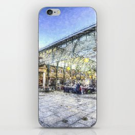 Covent Garden Market London Snow Art iPhone Skin