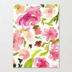 Pink Paeonia's Canvas Print