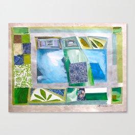 Blue-Green Quilt Canvas Print