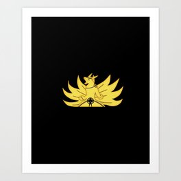 The Demon Fox Within Art Print