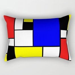 Mondrian Style Rectangular Pillow
