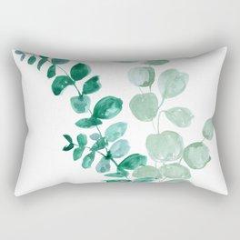 Watercolor eucalyptus leaves Rectangular Pillow